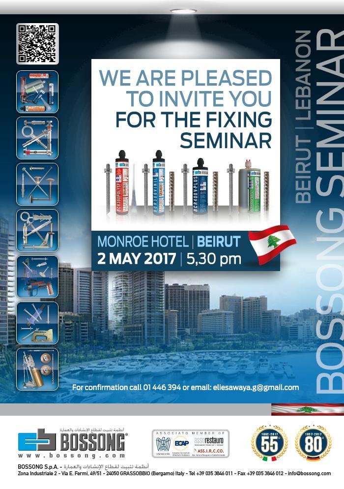 Seminaire Bossong sur la Fixation a Beyrouth Liban
